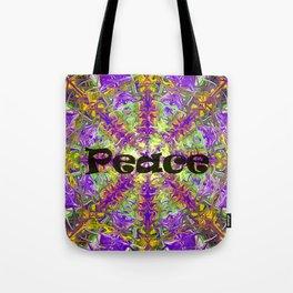 Peace purple tie dye Tote Bag