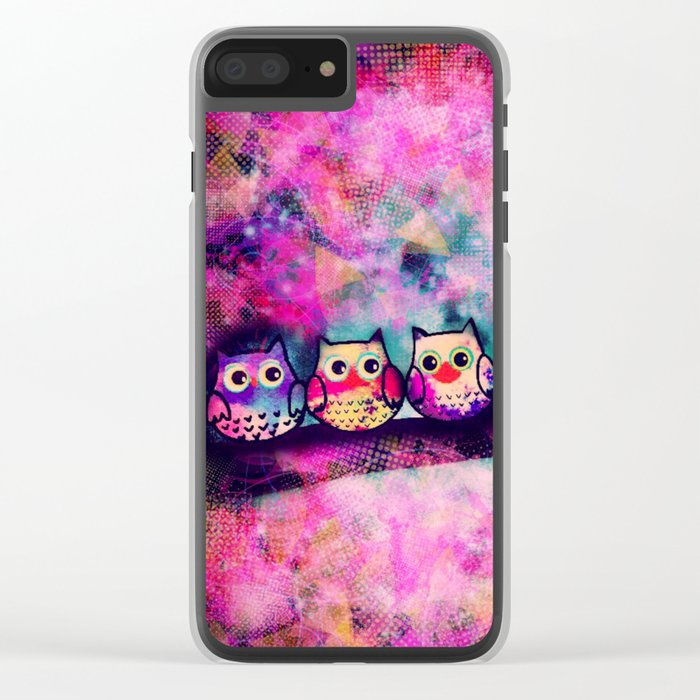 owl-88 Clear iPhone Case