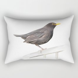Ms. Blackbird is Brown Rectangular Pillow