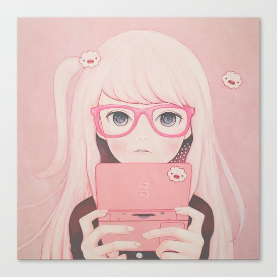 「Gamegirl Girl」  Canvas Print