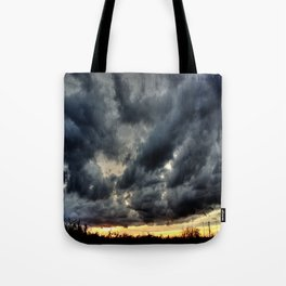 Angry Clouds Tote Bag