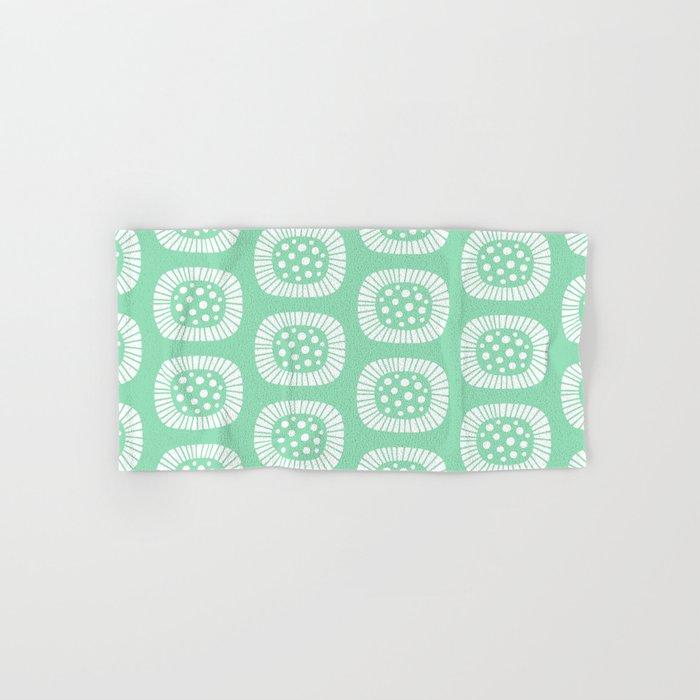 Mint Green Bath Towels Beauteous Mid Century Modern Atomic Sunburst Mint Green Hand Bath Towel By