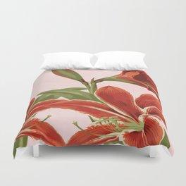 Amaryllis Tropical Flower Print Duvet Cover