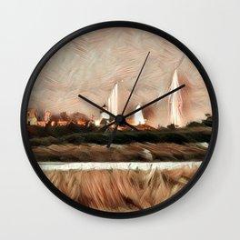 AUTUMN HARBOR Wall Clock