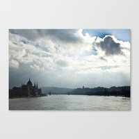 budapest Canvas Prints featuring Budapest by Daniel Fornies