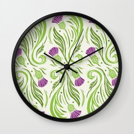 Thistles - Color PAttern Wall Clock