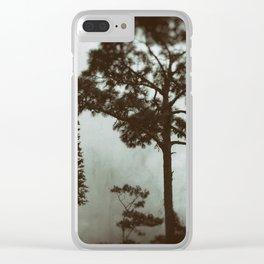Man vs Nature Clear iPhone Case