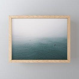 Foggy Morning  Surf Framed Mini Art Print