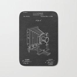 Vintage Camera Blueprint Sheet One Bath Mat