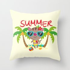 Hello, summer Throw Pillow
