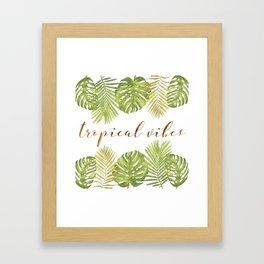 Tropical Vibes - Palms Framed Art Print