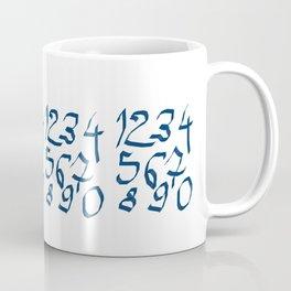 Chiffres bleus Coffee Mug