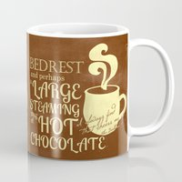 dumbledore Mugs featuring Cheered by Chocolate Albus Dumbledore by PieTowel
