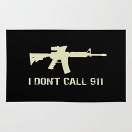 M4 Assault Rifle - I Don't Call 911 Rug