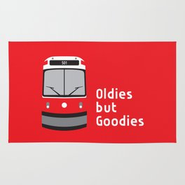 Oldies but Goodies - Old Streetcar, Toronto, ON, Canada Rug