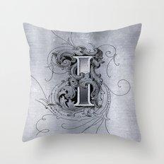 monogram i Throw Pillow