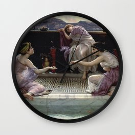 Edward Poynter - When The World Was Young Wall Clock