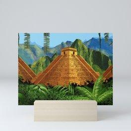 Elegant EL DORADO, City of Gold discovering - Digital painting + Collage Mini Art Print