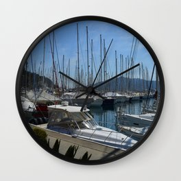 Netsel Yacht Marina Marmaris Turkey Wall Clock