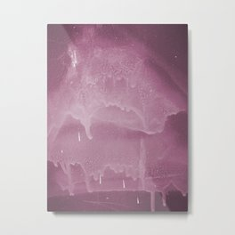 Pink graffiti stain on gray background ready for picture, clothes, furniture, iphone cases Metal Print