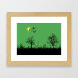 Green panorama Framed Art Print