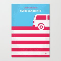 No786 My American Honey minimal movie poster Canvas Print