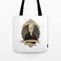 buffy the vampire slayer Tote Bags featuring Spike - Buffy the Vampire Slayer/Angel by muin+staers