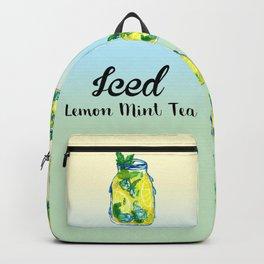 Watercolor - Iced Lemon Mint Tea Backpack