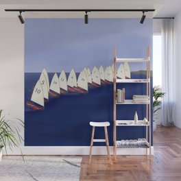 In May, May's Regatta - shoes stories Wall Mural