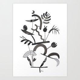Abstract Botanica - 1 Art Print