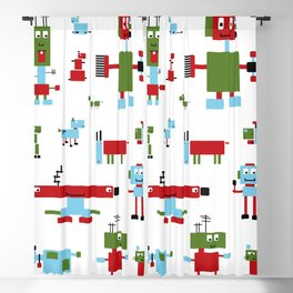 Robots-RGB Blackout Curtain