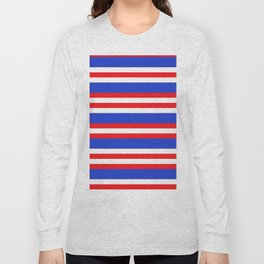 Blue,red and white lion stripes. Long Sleeve T-shirt