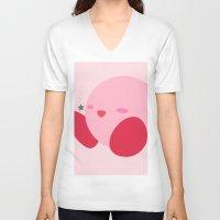 kirby V-neck T-shirts featuring Kirby(Smash) by ejgomez
