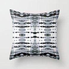 BW Satin Shibori Throw Pillow