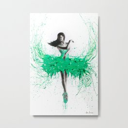 Southern Jade Ballerina Metal Print