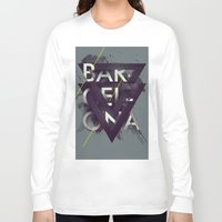 barcelona Long Sleeve T-shirts featuring Barcelona by Giga Kobidze
