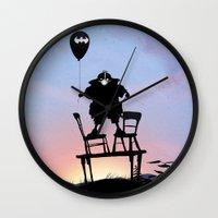 bane Wall Clocks featuring Bane Kid by Andy Fairhurst Art