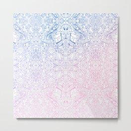 phat leaf pattern pastel gradient Metal Print