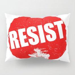 Angela Davis - Resist (red version) Pillow Sham