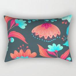 vivid flowers ii Rectangular Pillow