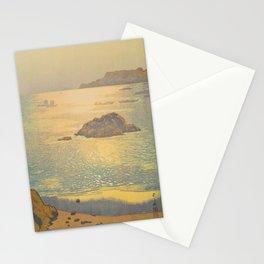 Ohara Beach Hiroshi Yoshida Modern Japanese Woodblock Print Stationery Cards