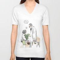 kim sy ok V-neck T-shirts featuring OK?! by doFirlefanz