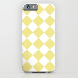 HARLEQUIN (KHAKI & WHITE) iPhone Case