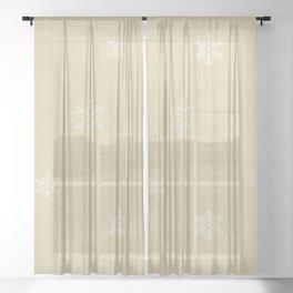 Snow Flakes pattern Yellow #homedecor #nurserydecor Sheer Curtain