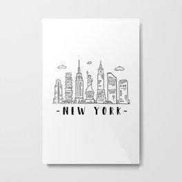 New York City United States Skyline Architecture Cityscape Metal Print