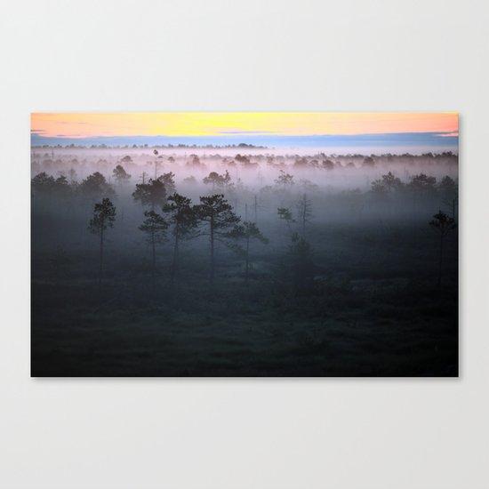 Foggy Earth Canvas Print