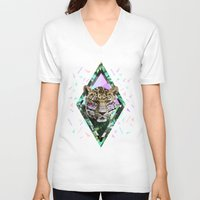 safari V-neck T-shirts featuring ▲SAFARI WAVES▲ by Kris Tate