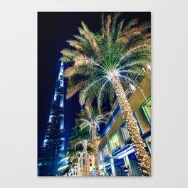 Dubai Night Canvas Print