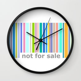 Not For Sale Barcode - Colorful Wall Clock