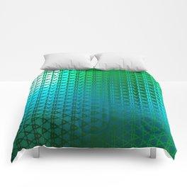 Groovy Retro Pattern (green) Comforters